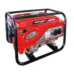 Бензиновий генератор Бригадир Standart БГ-603Е, 3-фазний, 6.0 кВт, эл.с.
