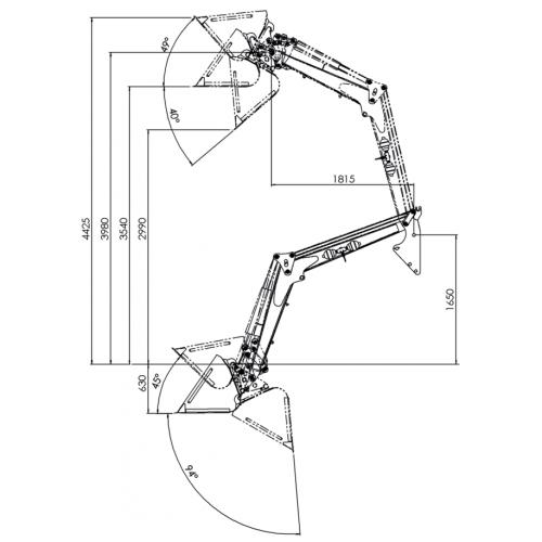 Навісний фронтальний навантажувач Т229-D15 | t-i-t.com.ua