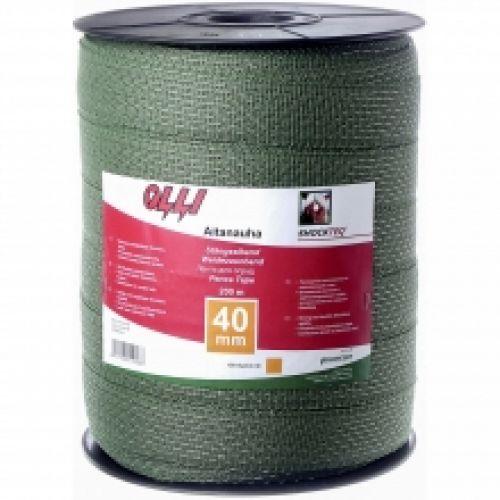Зелена багатожильна стрічка 40мм/200м | t-i-t.com.ua