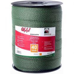Зелена багатожильна стрічка 12мм/200м