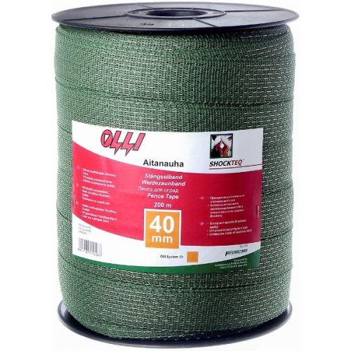Зелена багатожильна стрічка 12мм/200м | t-i-t.com.ua
