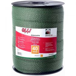 Зелена багатожильна стрічка Shockteq 20мм/200м