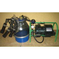 Доїльний апарат Імпульс ПБК-4 (від 1 до 8 овець, гума силікон, відро полікарбонат, 22 л)