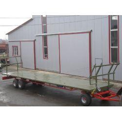 Причіп-платформа для перевезення рулонів і тюків ПП-12/3, вантажопідйомність 16т