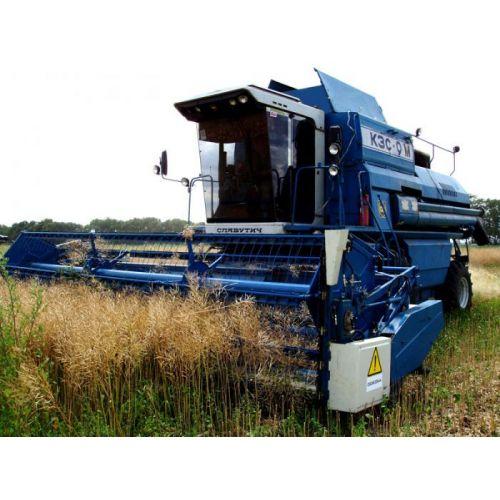 Пристосування для збирання ріпаку ПЗР-6-03 з жаткою ЖСК-6 до зернозбиральних комбайнів СЛАВУТИЧ | t-i-t.com.ua