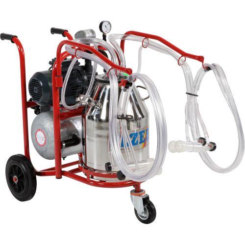 Доїльний апарат  для овець пересувний PLS-2/1 K  відро нерж.сталь 152 005 011 | t-i-t.com.ua